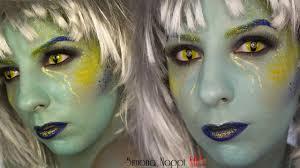sea witch halloween makeup tutorial youtube
