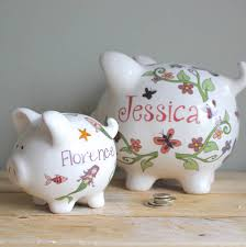 keepsake piggy bank personalised piggy bank for by sparkle ceramics