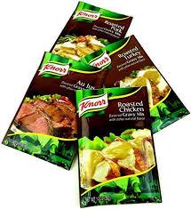 turkey gravy mix knorr gravy mixes 4 flavor variety one 0 6 oz packet of au jus