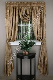 Gold Metallic Curtains Jacquard Curtain Panel Luxury Home Textiles Curtains