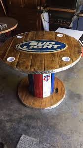 wooden spool bud light table woodworking plans