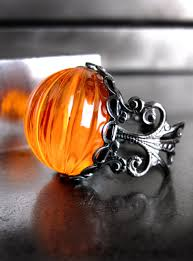 halloween jewelry neon orange pumpkin ring halloween jewelry day glo bright