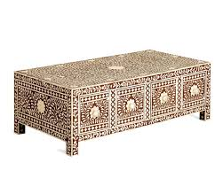Indian Table L Bone Inlay Coffee Table L Wooden Inlay Coffee Table L Indian Inlay