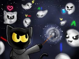 happy halloween png happy halloween magic cat academy by artycomicfangirl on deviantart