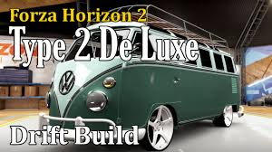 black volkswagen bus forza horizon 2 vw type 2 de luxe drift build u0026 tune v8 drift