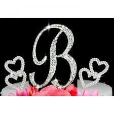 z cake topper buy monogram cake topper with 2 hearts design silver cake