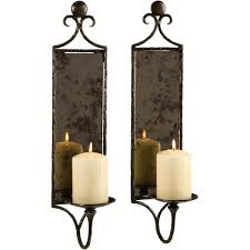 Overstock Wall Sconces Hammered Mirror Wall Sconce Candle Set Of 2 Free Shipping