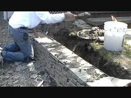 how i build a small stone wall part 1 of 4 mike haduck youtube