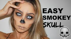 how to do halloween makeup easy halloween makeup tutorial smokey skull youtube
