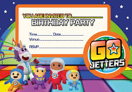 go jetters a5 size party invitations 20 per pack on glossy paper