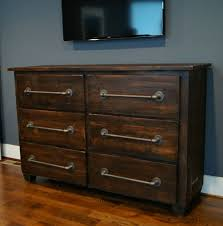 Rustic Bedroom Dressers - rustic dressers simple rough raw wood dresser cabinet with iron