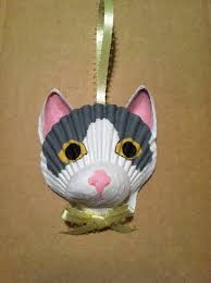 seashell cat ornament by lori u0027s shell art lori u0027s shell art