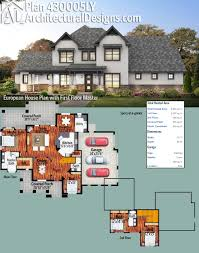 plan 430005ly european house plan with first floor master