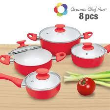 batterie cuisine ceramique batterie de cuisine ceramic chef pan 8 pièces achat