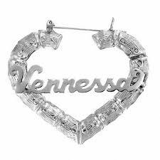 Personalized Name Earrings Heart Shaped Name Hoop Earrings In Sterling Silver 10 Characters