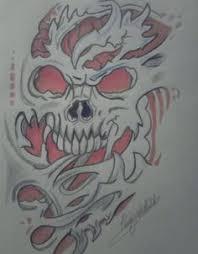 flaming horror skull tattoo design jpg 708 1157 tattoos