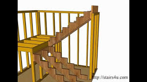U Stairs Design How To Build And Frame Stairs Landings U Shaped Stairs