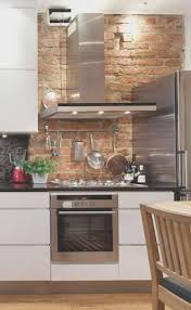 backsplash fresh exposed brick backsplash kitchen decorate ideas
