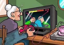 Grandma Computer Meme - grandma playing computer games