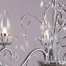 3 lt bathroom decorative curved arm crystal effect chandelier