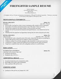 firefighter resume template firefighter resume sle resumecompanion resume sles