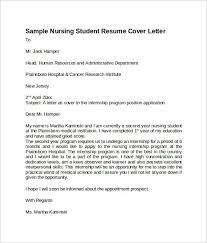 cover letter for nursing student student resume examples