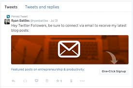 how to use cards for one click signups to your email list