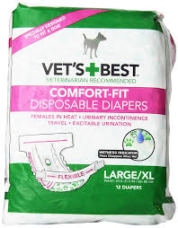 american pitbull terrier heat cycle amazon com vet u0027s best 12 count comfort fit disposable female dog