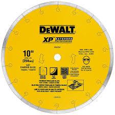 Best Circular Saw Blade For Laminate Flooring Shop Dewalt 10 In Wet Continuous Diamond Circular Saw Blade At