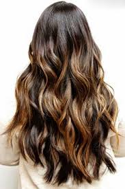 brunette hairstyle with lots of hilights for over 50 40 brunette long hairstyles ideas hair goals pinterest long