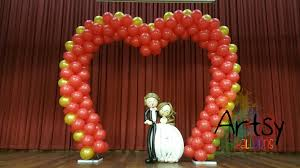wedding arches singapore heart shaped balloon arch for a newlywed as their event venue