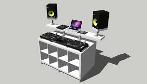 Build Studio Desk by Ikea Dj Studio Desk Decorative Desk Decoration