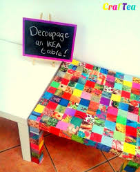 diy decoupage on ikea lack table ikea hackers ikea hackers