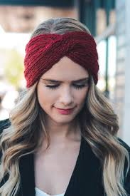 winter headbands twist braid knit crochet headband