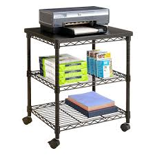 Computer And Printer Desk 100 Printer Storage Printer Trolley 2 Compartment Filing