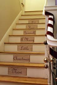 Banister Decorations Hammers And High Heels A Merry Message Along Our Staircase