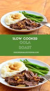 slow cooker cola roast onion rings u0026 things