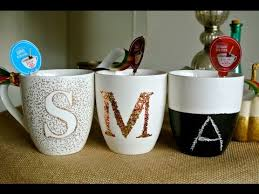 d i y personalized mugs
