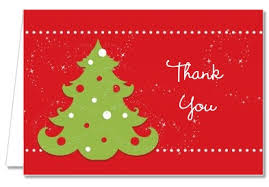 christmas thank you cards christmas thank you cards christmas tree thank you notes