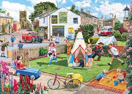 2 jigsaw puzzles trevor mitchell wigwams and woolly hats