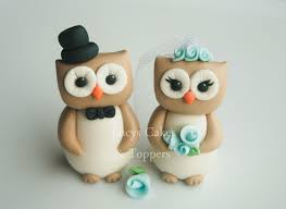 owl cake toppers owl bird and groom wedding cake topper engagement