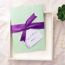 mint green ribbon affordable mint green pocket purple ribbon wedding