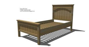 Rustic Wood Furniture Plans Ana White Toddler Farmhouse Bed Diy Projects