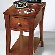 chairside table with charging station end side tables round square glass nesting wood country door