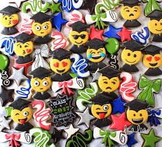 graduation cookies how to make decorated emoji graduation sugar cookies lilaloa