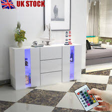 white gloss sideboards cupboards u0026 shelving units ebay