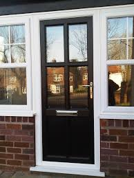 traditional upvc front door in black https