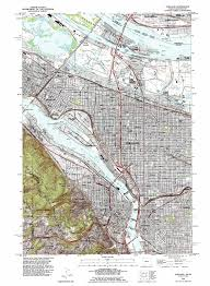 Map Portland Or by Portland Topographic Map Or Wa Usgs Topo Quad 45122e6