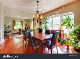 dining living room plants hardwood floor stock photo 112811653