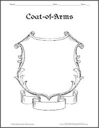 family crest template for kids oasis amor fashion